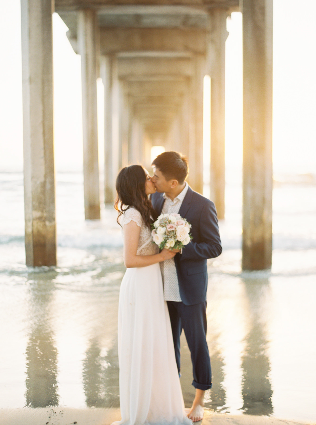 scripps pier San Diego Engagement photo by Matoli Keely Photography