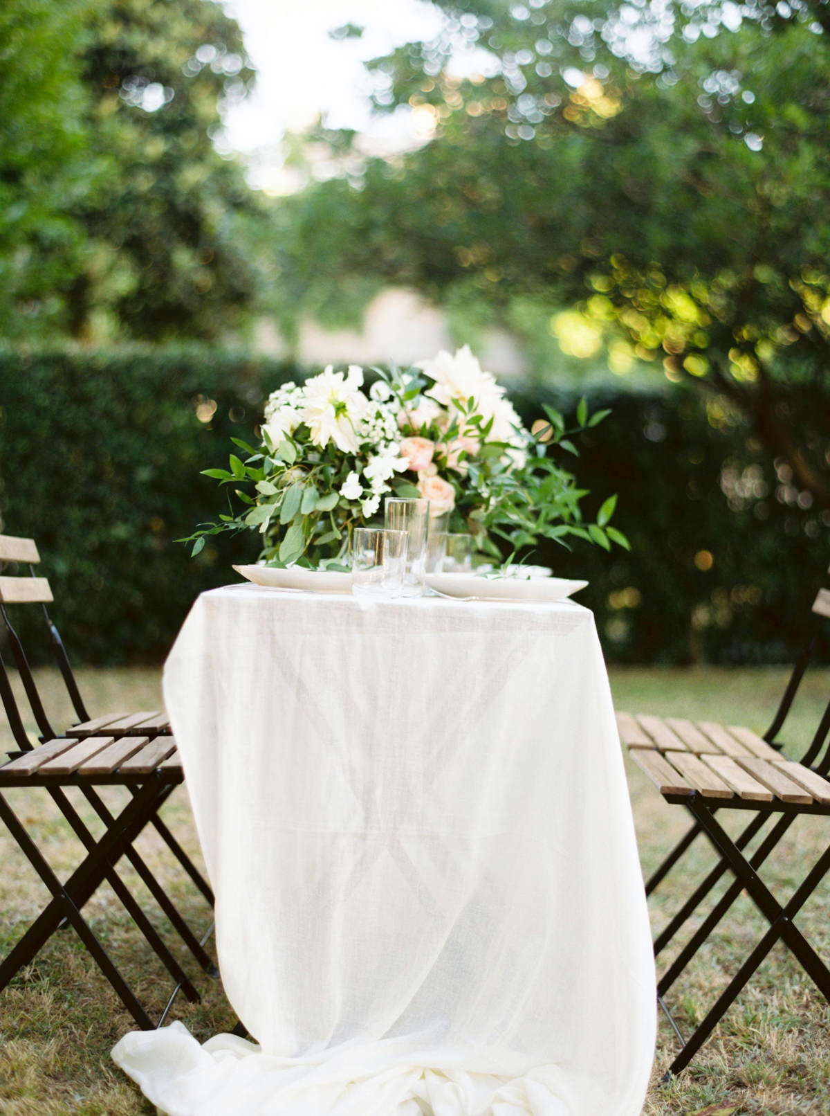 European Wedding Inspiration for garden reception