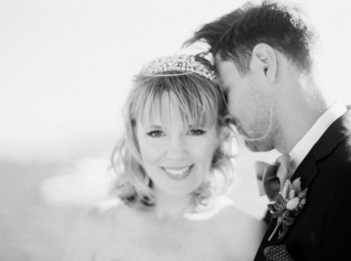 black and white wedding photo Heavenly Mountain Resort Wedding