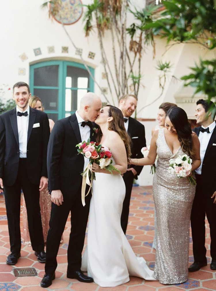 wedding bridal party at Anderson House Malibu