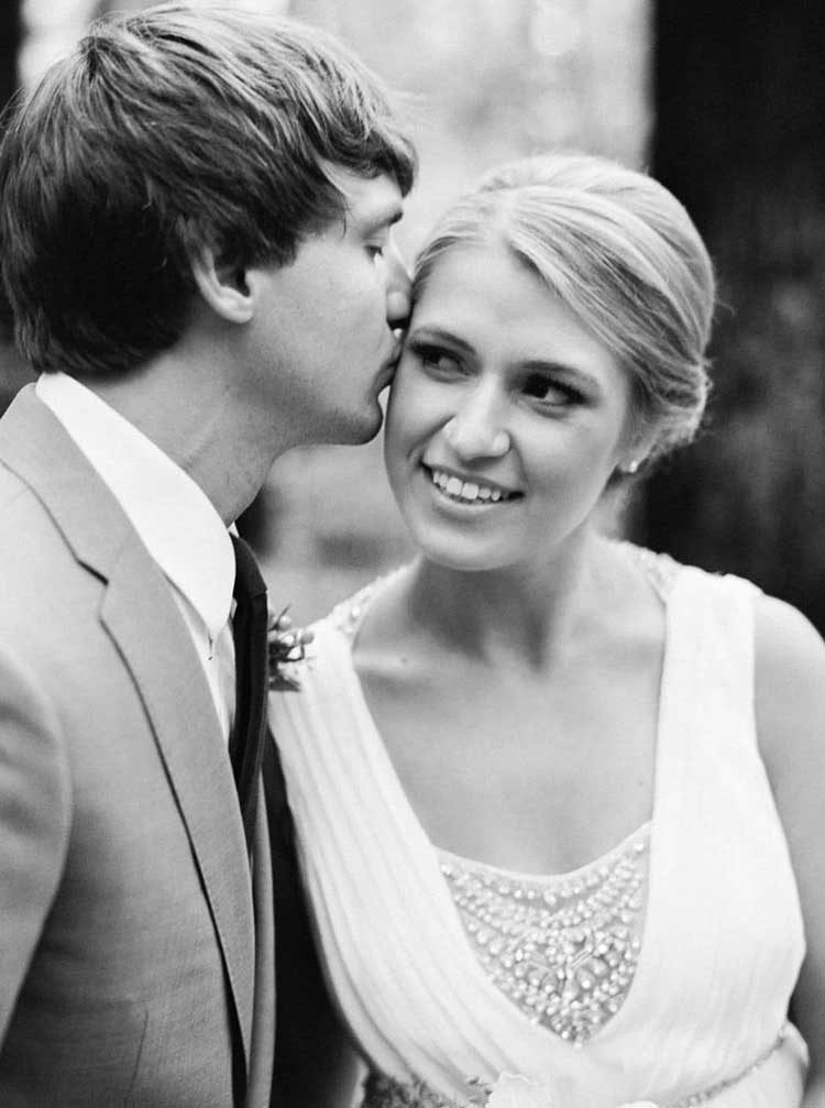 black and white bride and groom photos