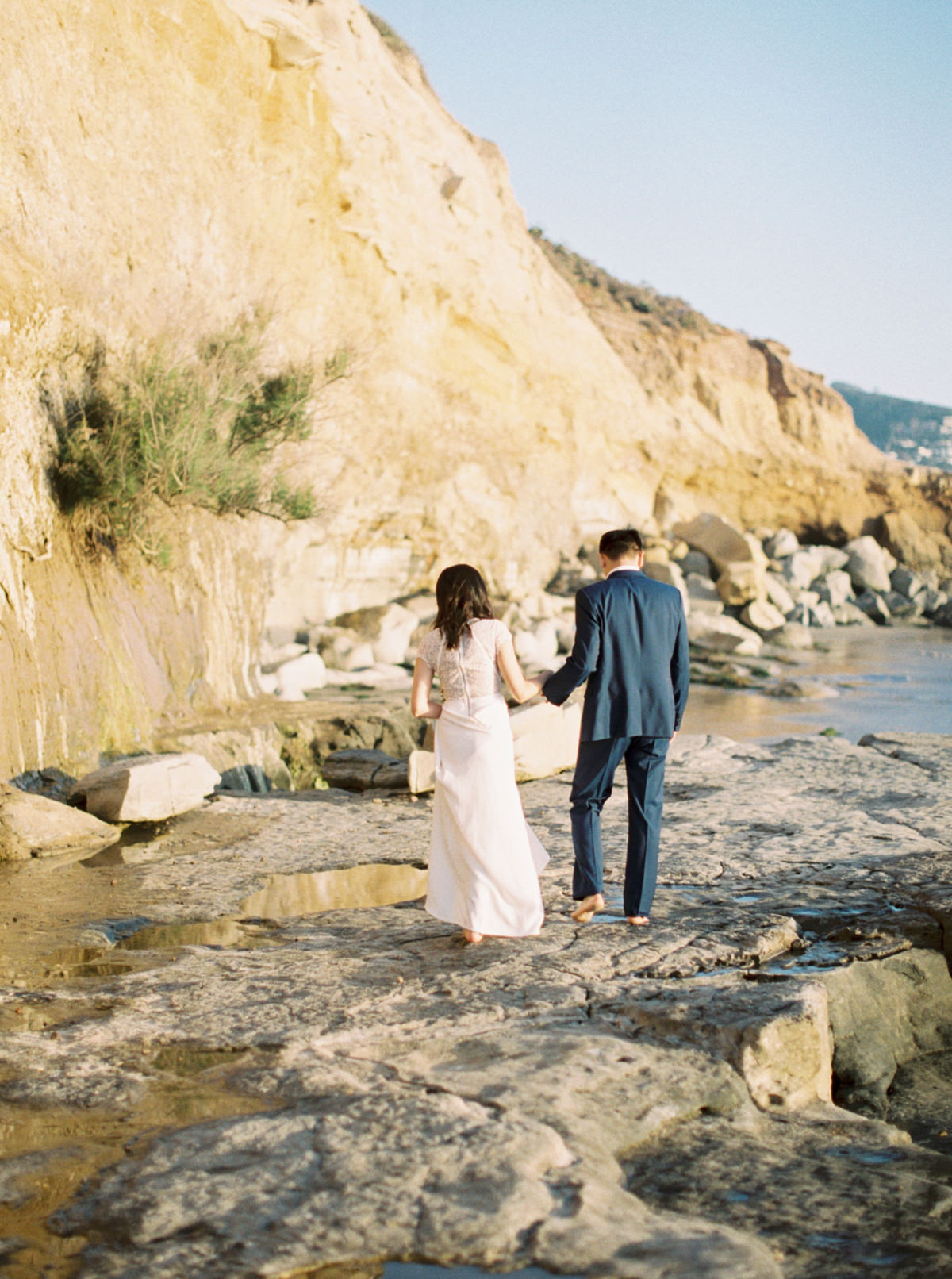 outdoor engagement barefoot San Diego Engagement photo by Matoli Keely Photography