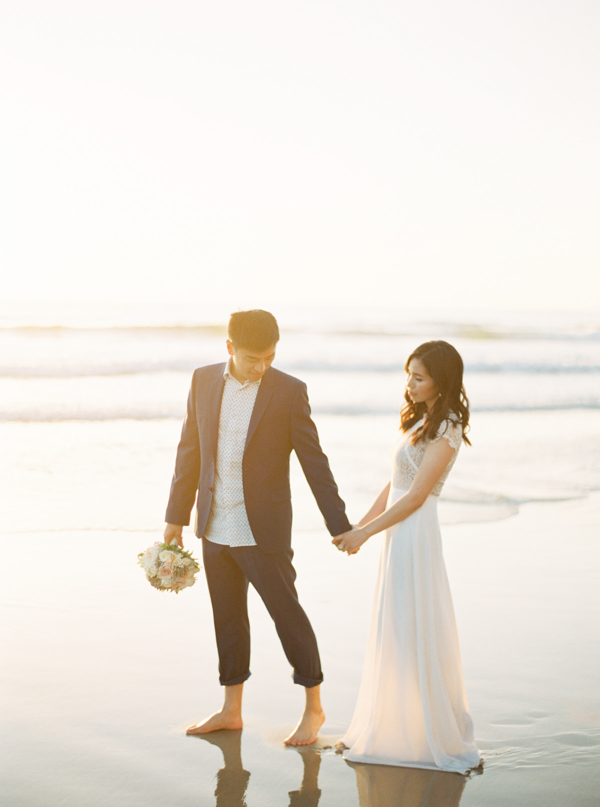 california sunset beach engagement photo by Matoli Keely Photography