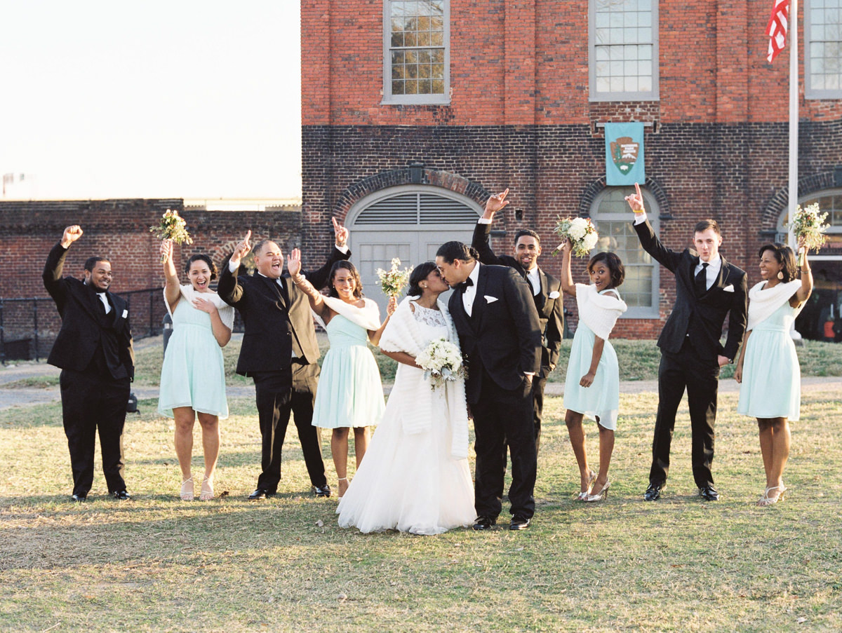 Tredegar Iron Works Wedding bridal party photo by Matoli keely Photography